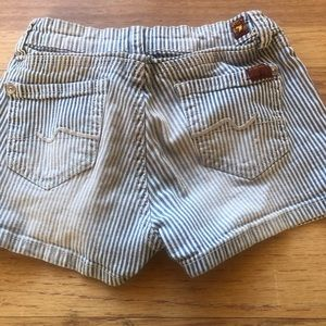 Girls 7 for all mankind shorts.